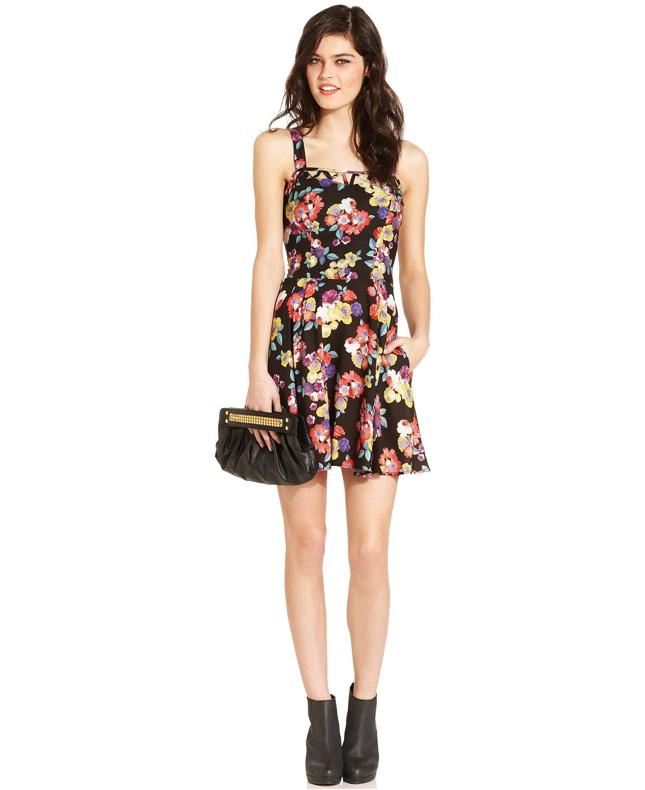 Material Girl Juniors Dress Sleeveless Floral Print Cutout Juniors Dresses Macy S Material Girls Junior Dresses Cutout Dress [ 1616 x 1320 Pixel ]