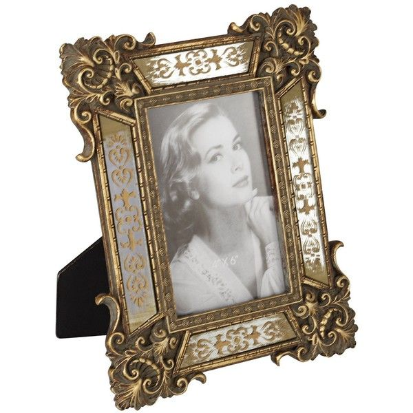 Florentine Antique Gold Mirror Picture Frame ($20) ❤ liked on ...