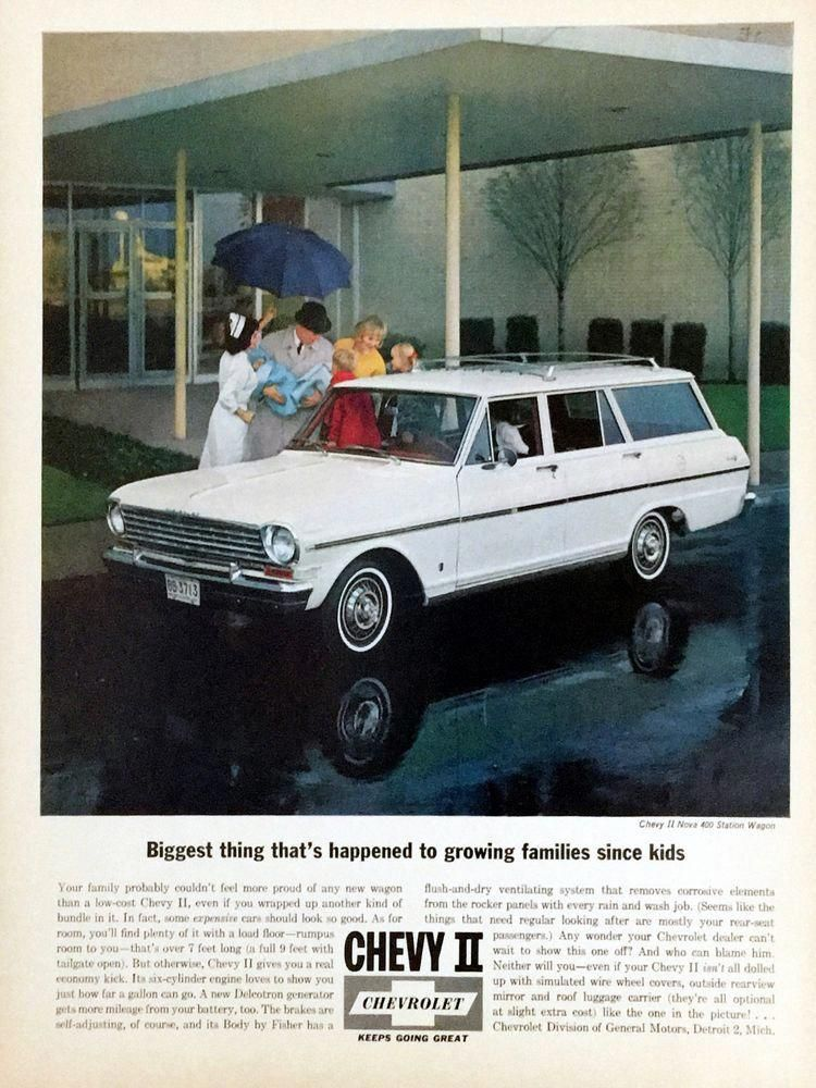 1963 Chevrolet Chevy Ii Nova 400 Station Wagon White Nurse