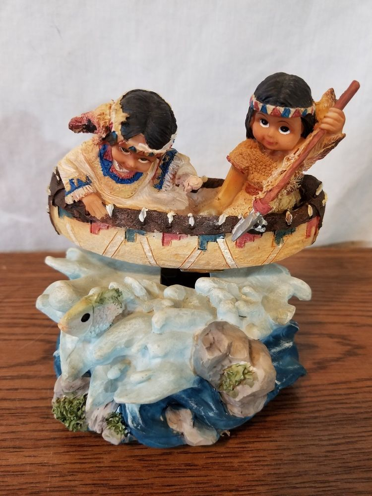 Boy And Girl Music Figure On Boat #musicbox #indian #boat