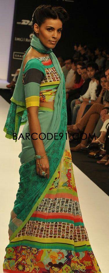 Stylish sari...