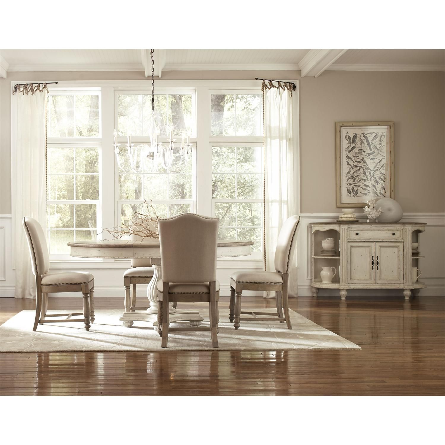 Coventry Two Tone Round Dining Table Top | Round dining ...