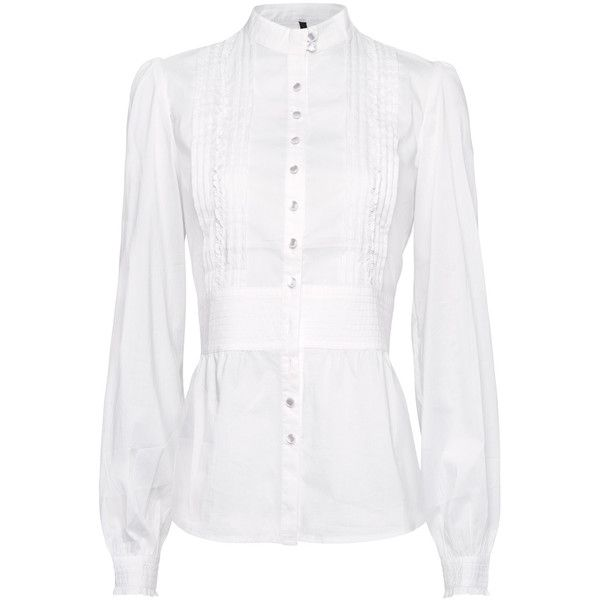 MANGO Gathered pleats shirt