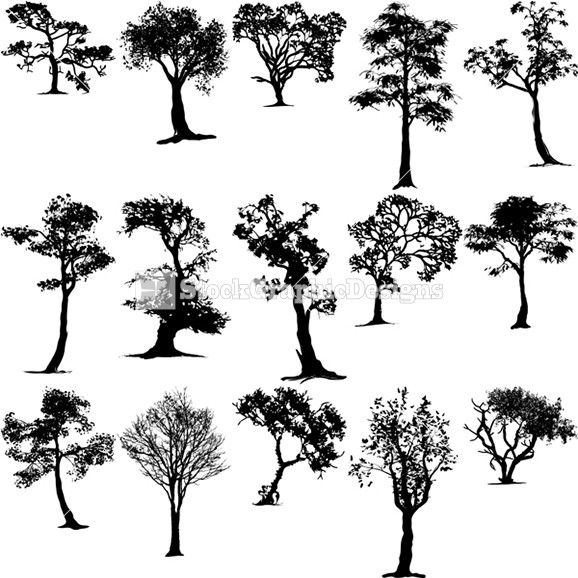 Vector Art Tree Silhouettes