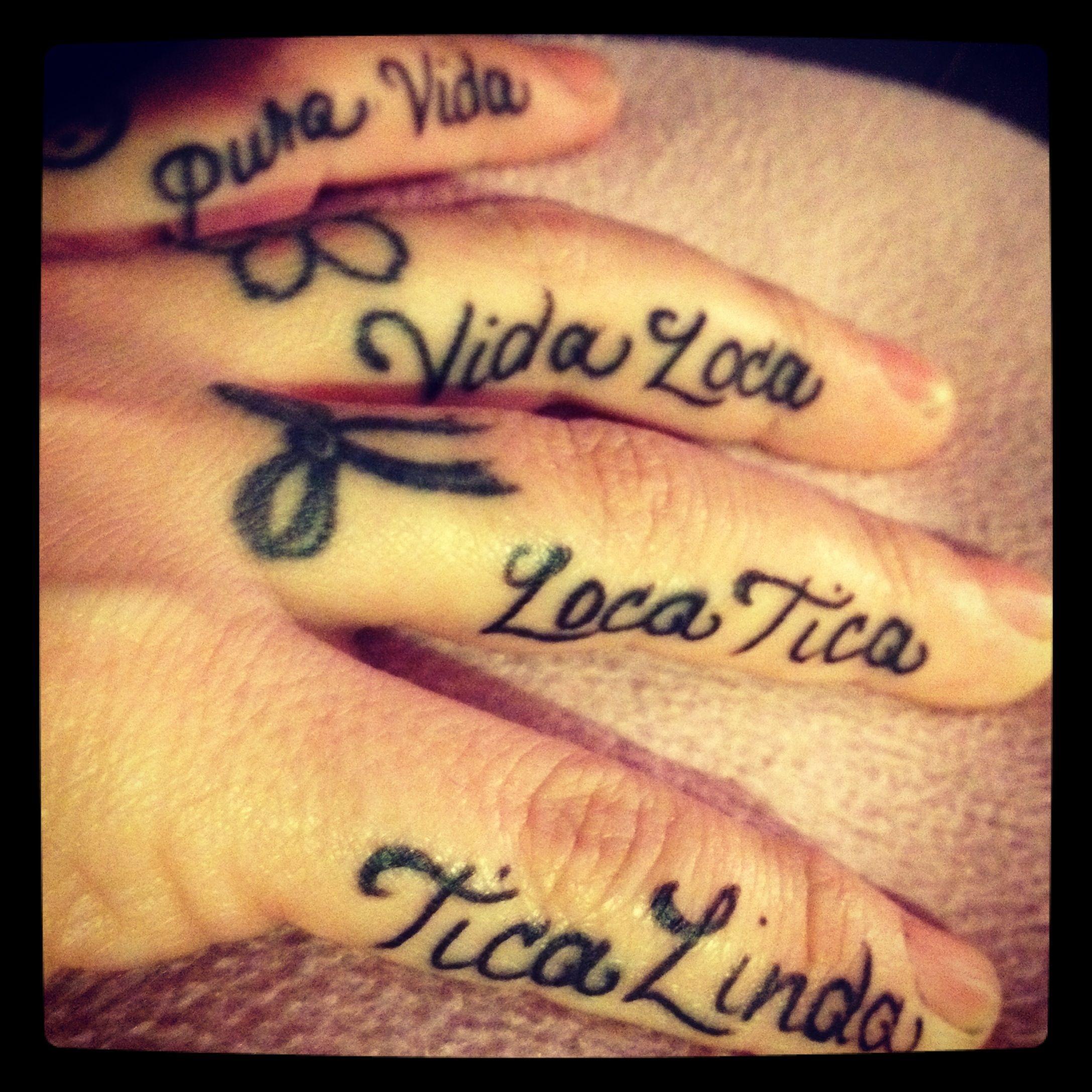Tattoo Needle Quotes: Pura Vida Baby! Costa Rica