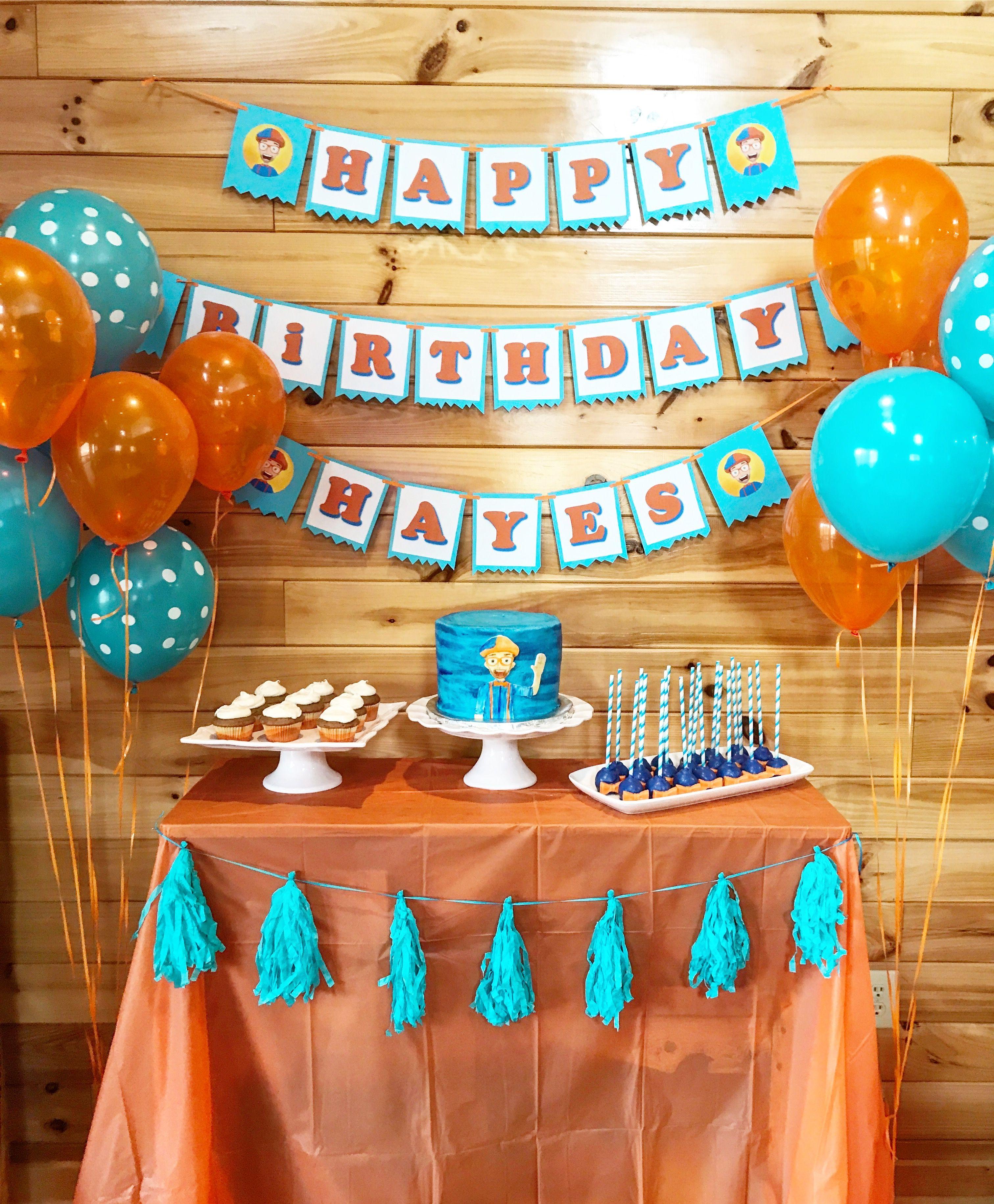 Blippi Birthday Party Toddler Birthday Party 3rd
