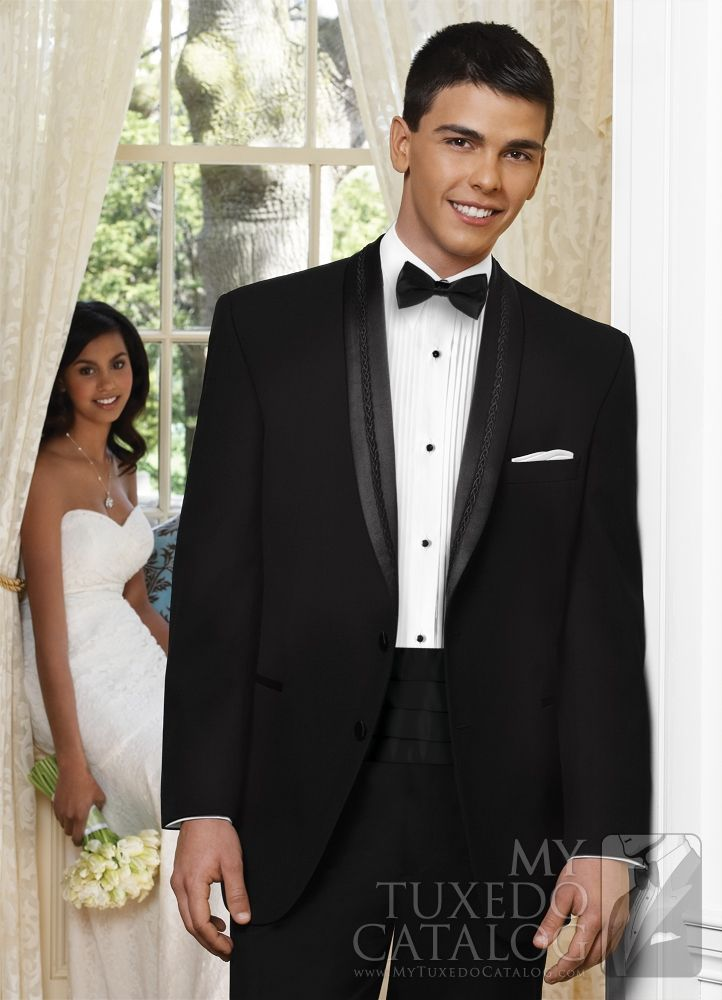 Black \'El Rey\' Tuxedo from http://www.mytuxedocatalog.com/catalog ...