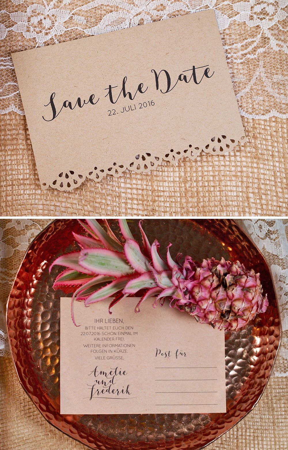 7 einfache diy save the date ideen safe the date