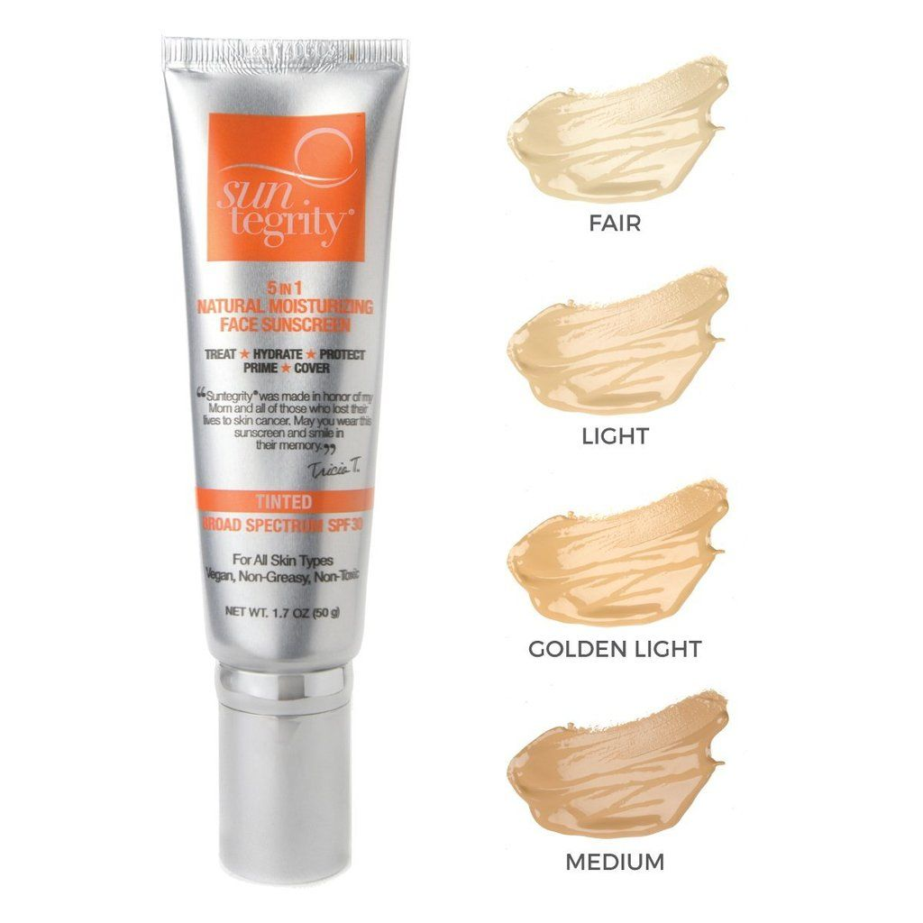 Suntegrity 5 In 1 Natural Moisturizing Face Sunscreen Tinted Bs Spf 30 Tinted Moisturizer Sunscreen Moisturizer