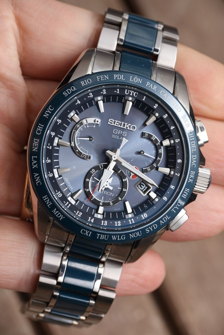 "Seiko Astron GPS Solar Dual Time Watch Review - by Ariel Adams - photos,  video, & full review on aBlogtoWatch ""Seiko, Citizen, and Casio are all  fighting a ..."
