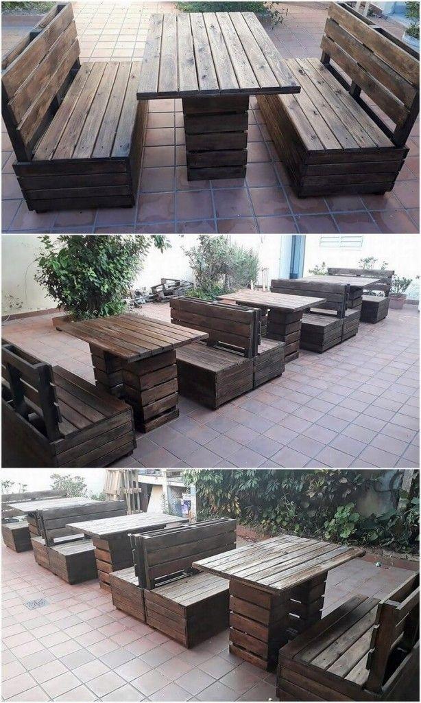 Wood Pallet Garden Benches And Table Pallet Furniture Outdoor Garden Furniture Sets Diy Garden Furniture