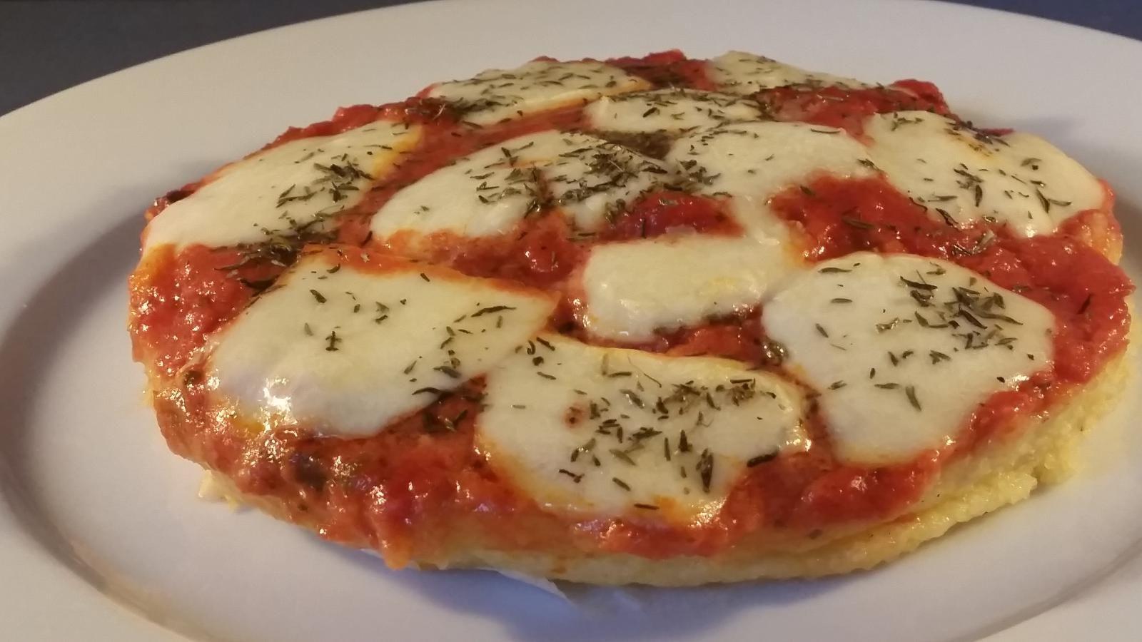 Polenta pizza - Voedingscoach aan huis