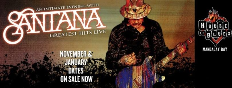 To celebrate Santana's upcoming performance during the closing ceremony of the World Cup, we're giving away 2 tickets to see him live at House of Blues Las Vegas in November!
