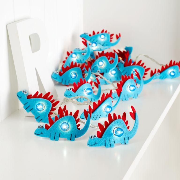 Adorable Dinosaur Blue String Lights For The Boys Room Www - Boys fairy lights for bedroom