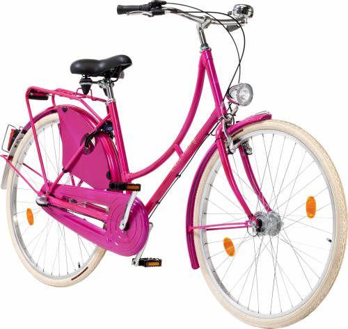 Wieder Verfugbar Damen Hollandrad 28 Zoll Rosa Pink Bei Www Greenbike Shop De Cycle Chic Bike Bicycle