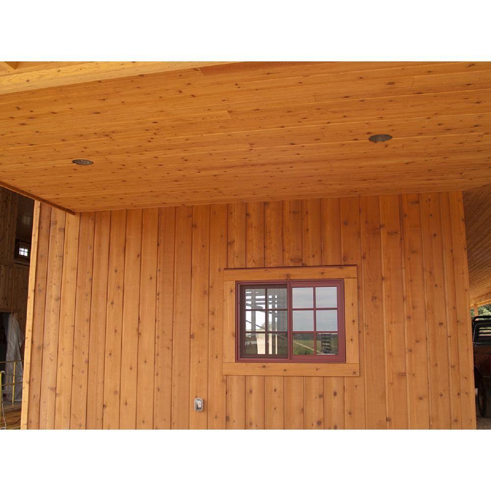 1 In X 8 In X 96 In Knotty Western Red Cedar Channel Siding Board 6 Pack 188wrcch6pk The Home Depot Cedar Siding Western Red Cedar Cedar