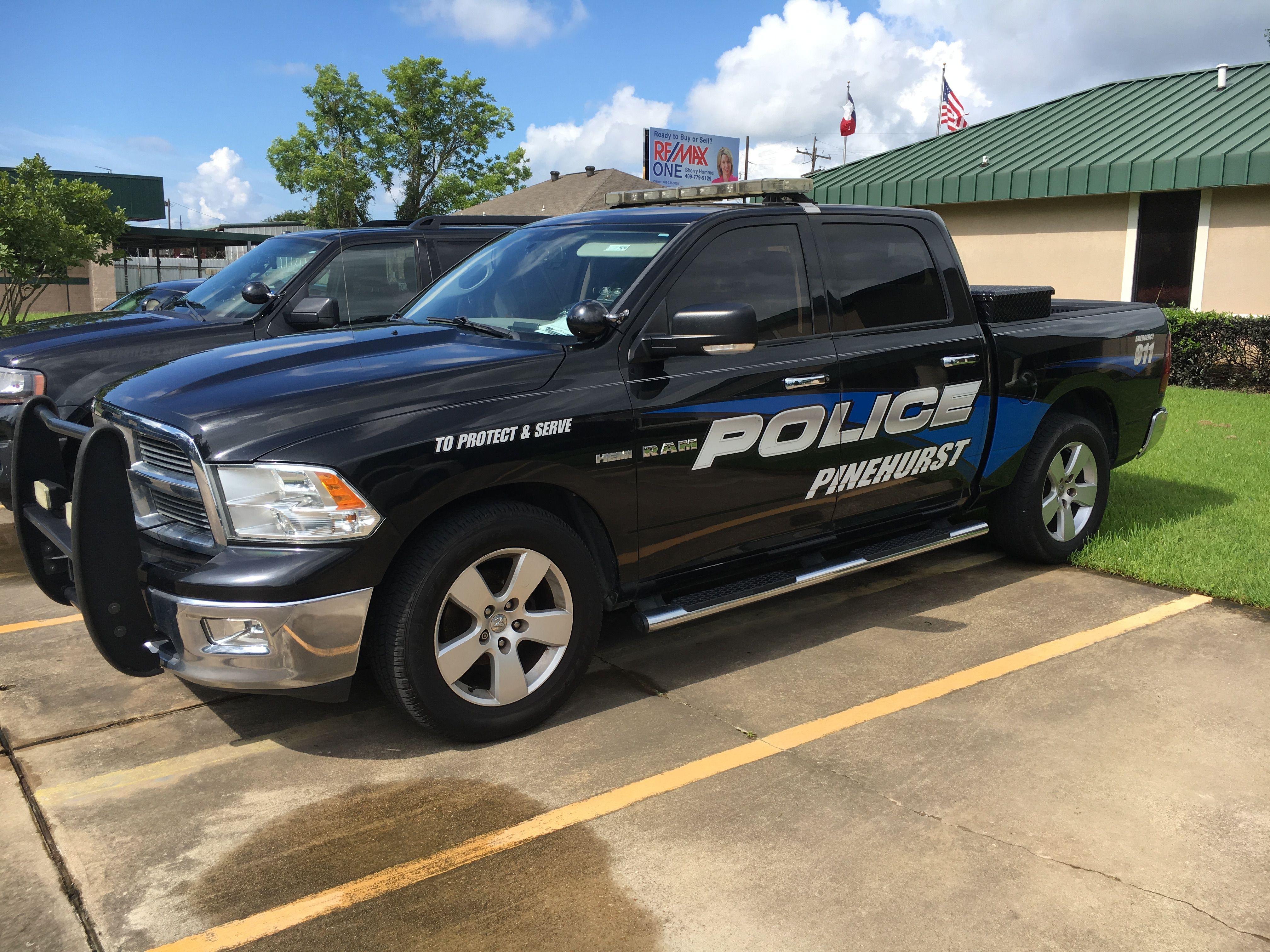 Pinehurst Police Department Ram Truck Texas