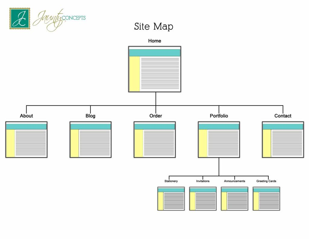 website site map examples responsive web design local business