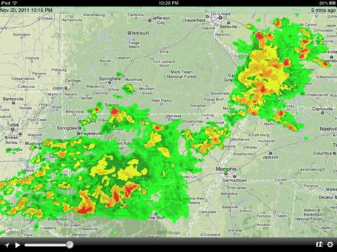 NOAA HiDef Radar App for Weather Forecasts Today's iPad