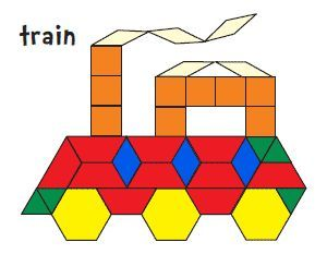 It's just an image of Bright Pattern Blocks Printable