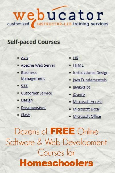 Free Online Software Web Development Courses For Homeschoolers The Happy Housewife Home Schooling Web Development Course Online College Courses Online Education