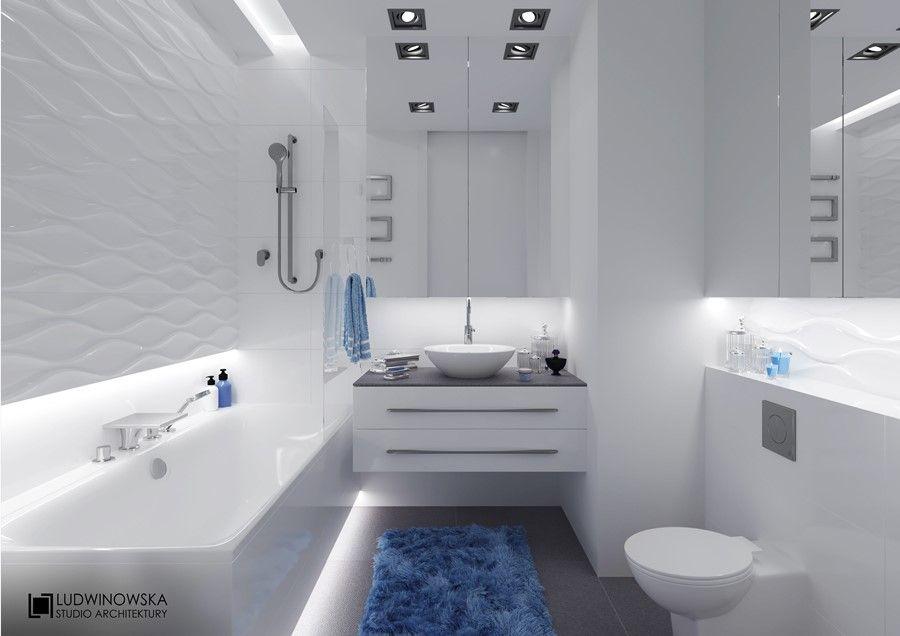 Nowoczesne Oświetlenie W Białej łazience Architektura