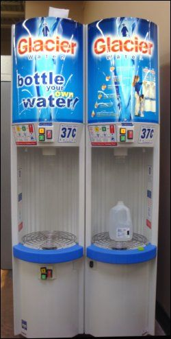 Water Vending Machines Bottle Your Own Water Less Expensively Vending Machine Gallon Water Jug Save Water Poster
