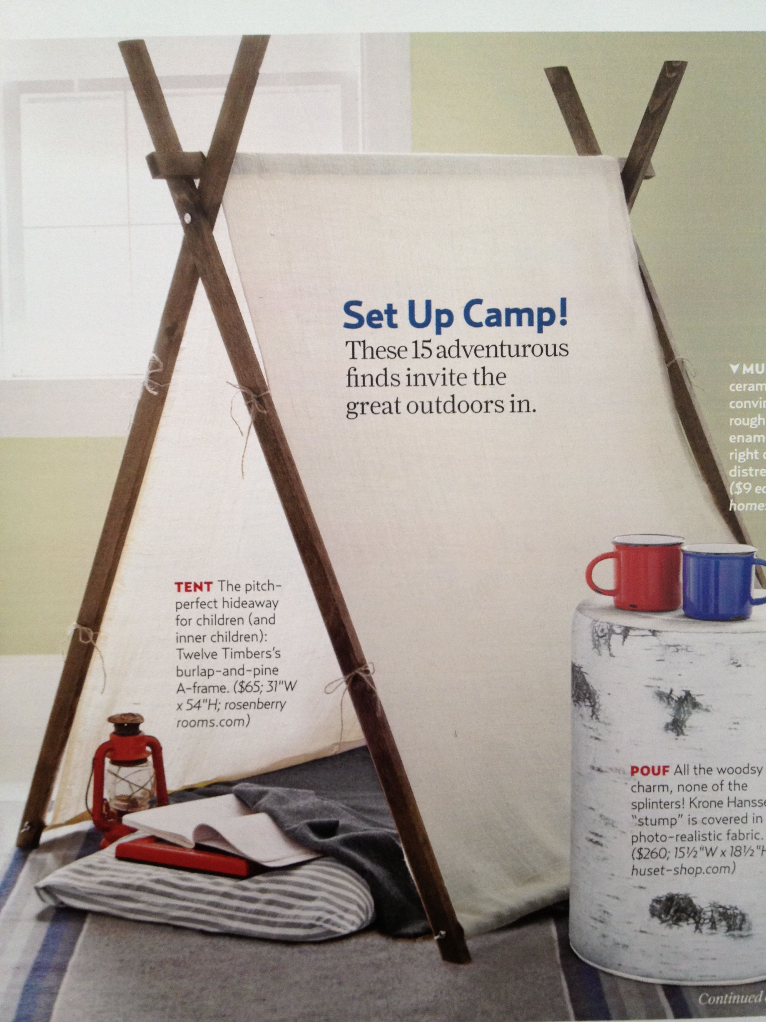 DIY Simple Tent for Kids Davisville Design