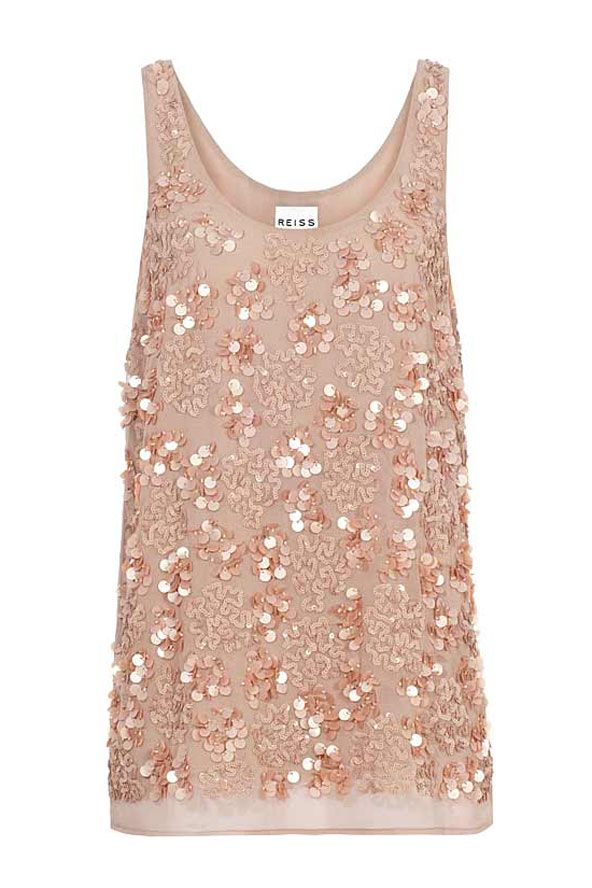 68393a764a694e Sequin top from Reiss | Sequins | Evening tops, Fashion y Sequin top