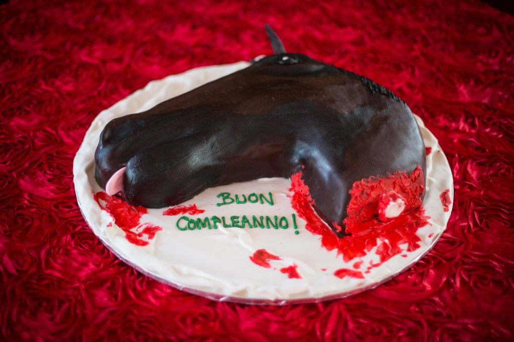 Wayne Kjar Horse Head Cake The Godfather Themed Party Felici
