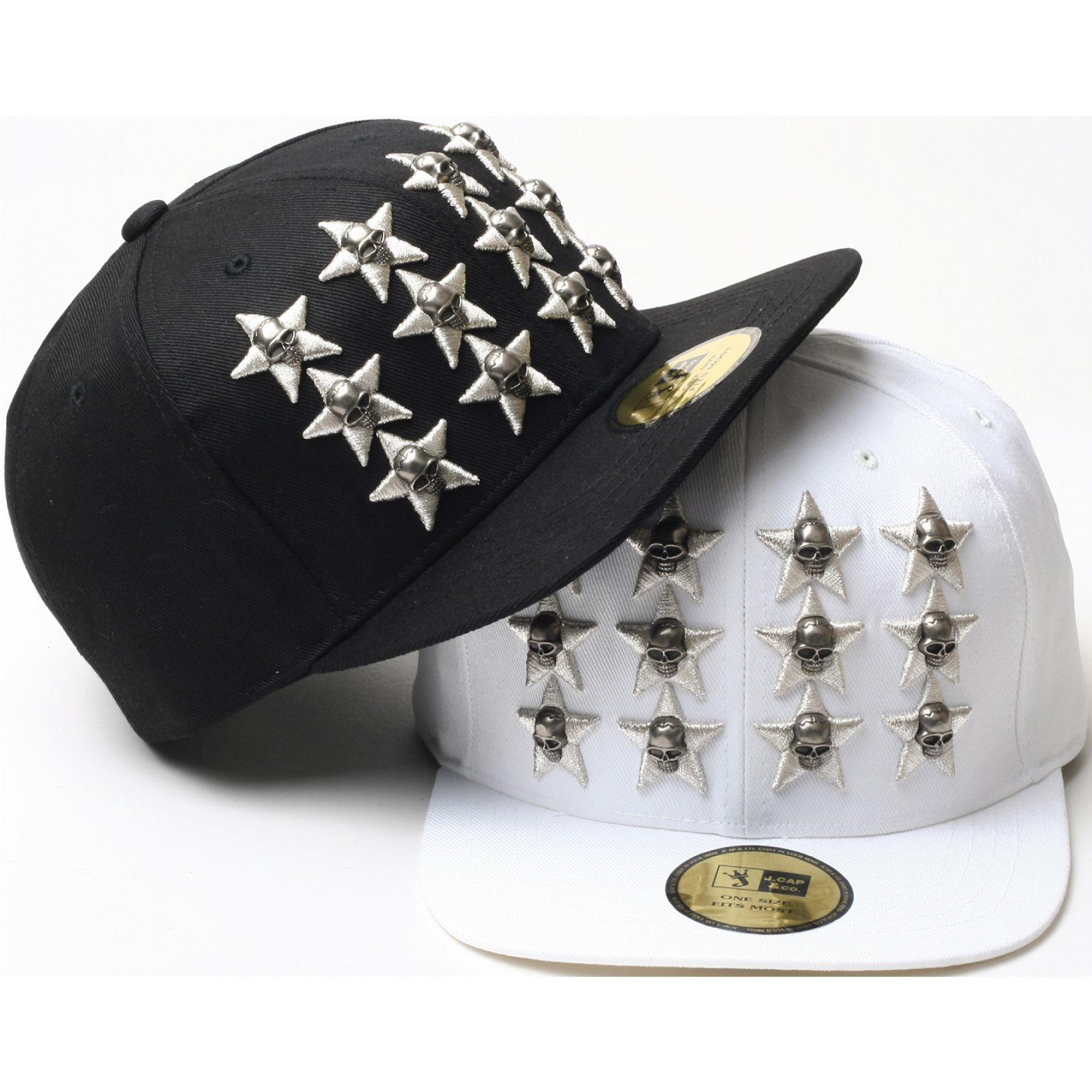 H31 Skull Star Stud Punk Rock Style Urban Hiphop Bill Snapback Flat