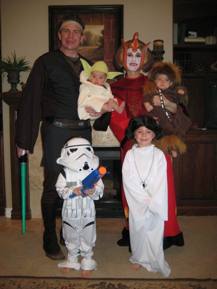 Quatang Gallery- Deguisement Halloween Fait Maison Star Wars Star Wars Family Costumes Family Costumes Family Themed Halloween Costumes