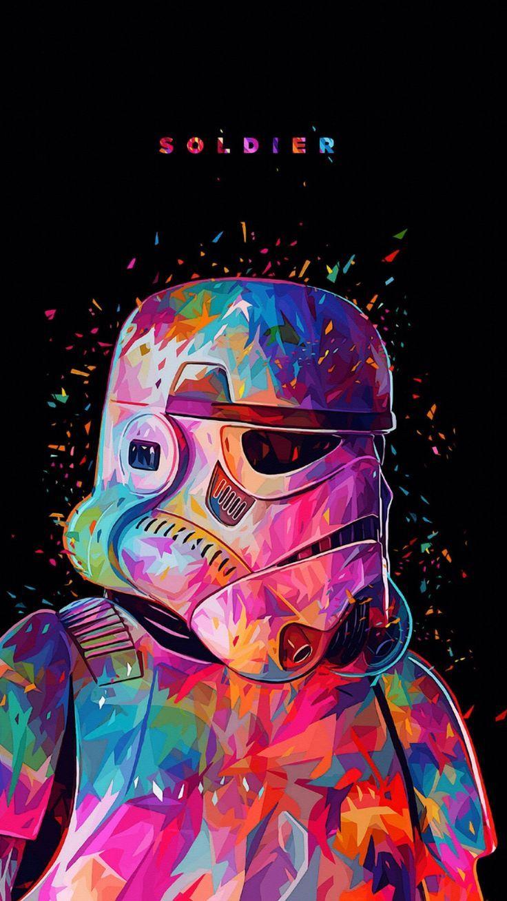 Pin de Roy Salas em Fond d'écran Pintura de star wars