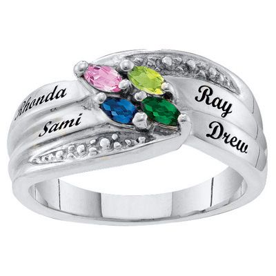 Zales Mothers Marquise Birthstone Ring (2-6 Stones) cSsGj