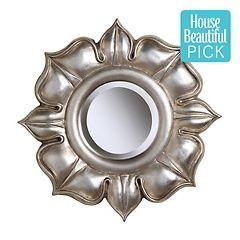 "16"" Lotus Silver Leaf Mirror"