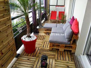 Muebles de palets 2 sofas exteriores hechos con palets y el mismo