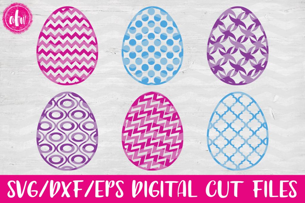 Pattern Easter Eggs Set 1 Svg Dxf Eps Bunny Svg Dxf Eps