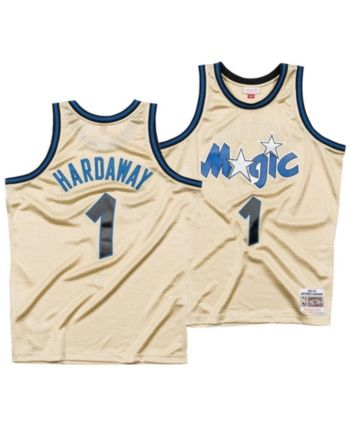 new arrival f2142 83c5c Mitchell & Ness Men Penny Hardaway Orlando Magic Gold ...