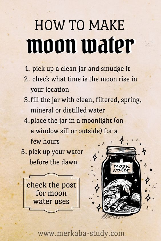 How to make Moon Water ✧ Moon Water uses ✧ Moon Phases