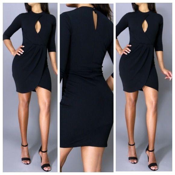 Black cocktail dress Black cocktail dress available in size small,medium,large Dresses Mini