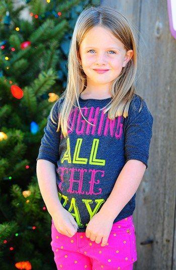 Peek Tee & Skinny Jeans (Toddler Girls, Little Girls & Big Girls)  available at #Nordstrom