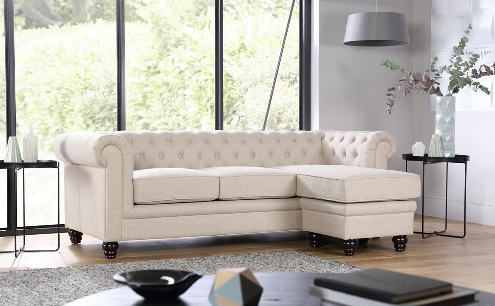 Hampton Oatmeal Fabric Chesterfield Corner Sofa L Shape Only 799 99 Furniture Choice Furniture Choice Corner Sofa Set Corner Sofa