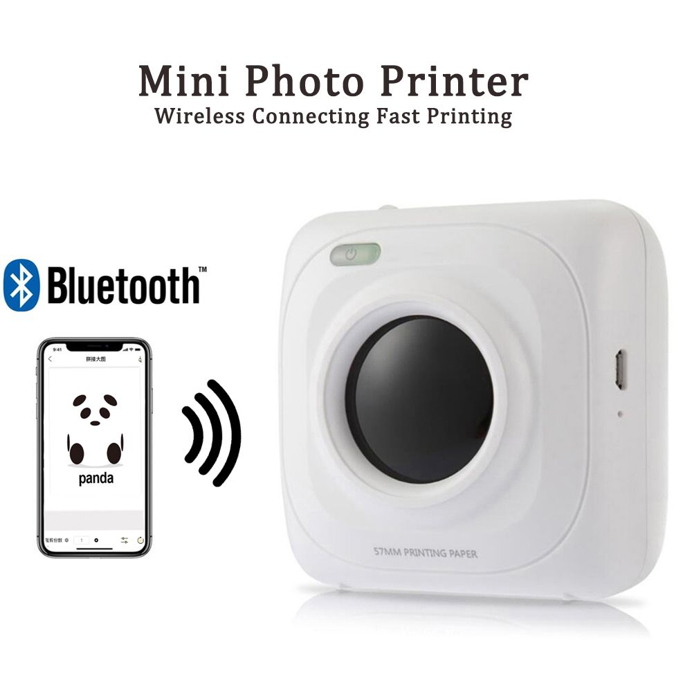 Us 44 19 Portable Bluetooth Pos Printer Mini Thermal Photo Picture Printer For Ios Android And Windows Picture Printer Printer Fujifilm Instax Mini
