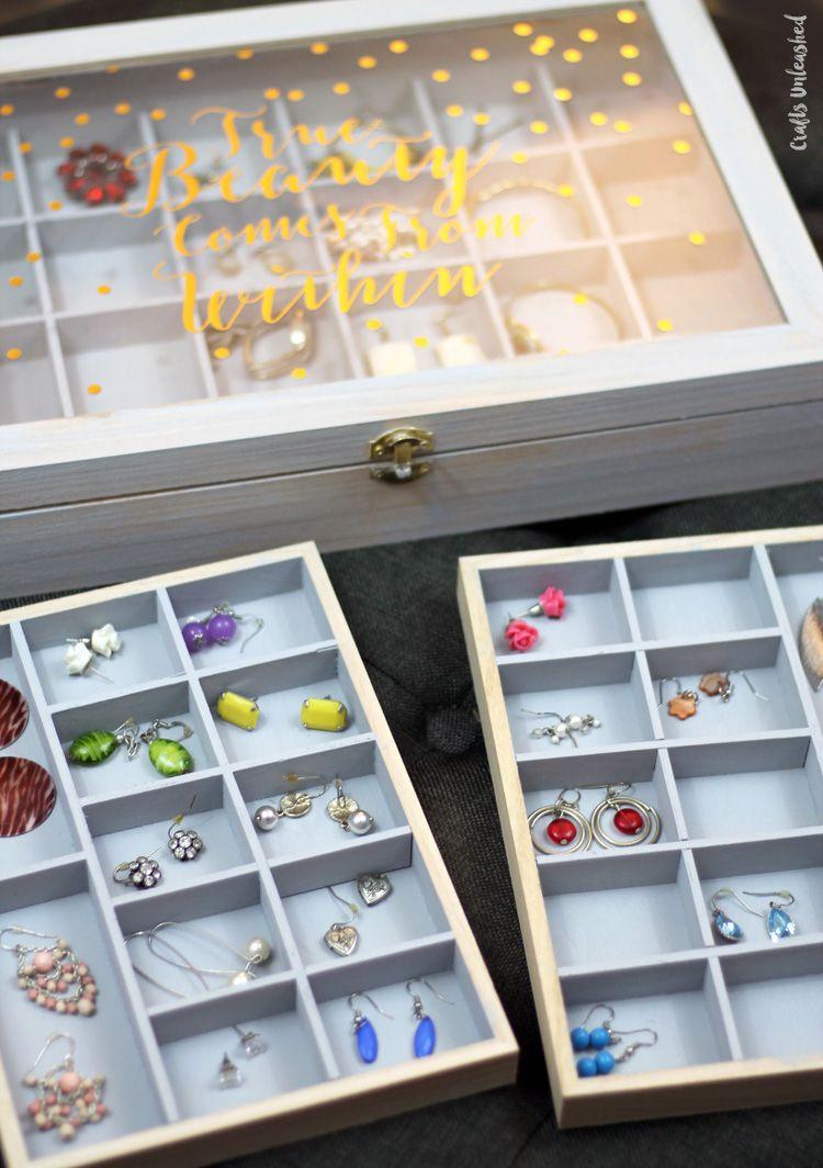 Diy Jewelry Organizer Storage Box Tutorial Consumer Crafts Diy