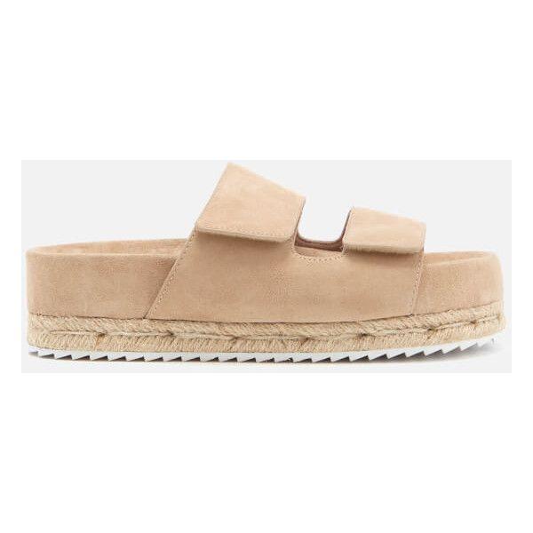 SENSO Women's Klayton Suede Double Strap Flatform Sandals - Sand - UK 4 z0Y8P7gT