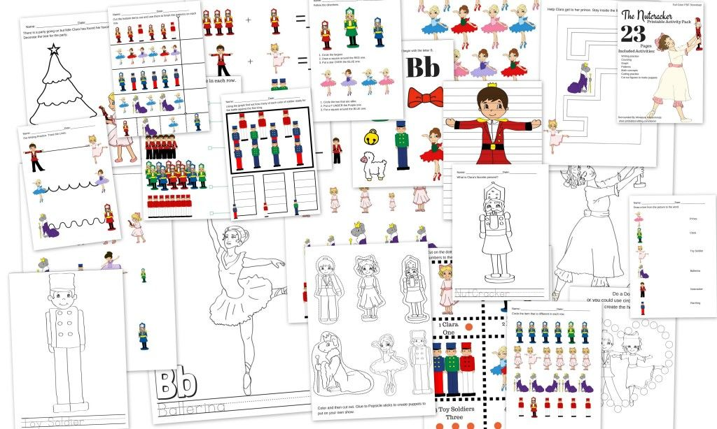 photograph about Nutcracker Worksheets Printable named The Nutcracker Preschool Free of charge Printable Worksheet and