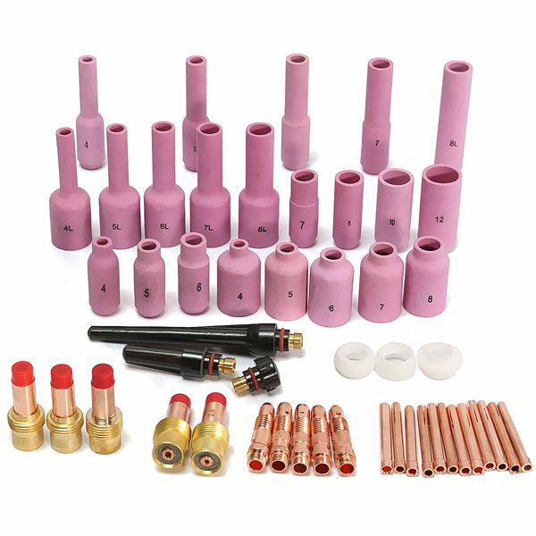 50 Kits Accesorios para pistola de soldadura de arco Argon Fit Soplete de soldadura TIG SR WP17 18 26