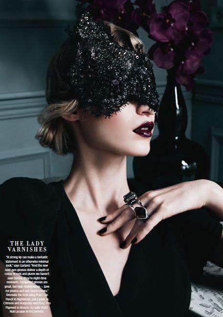 Suzy O'Rourke — Crystal gaze mask featured in Haper`s Bazaar June 2013. #passion4hats