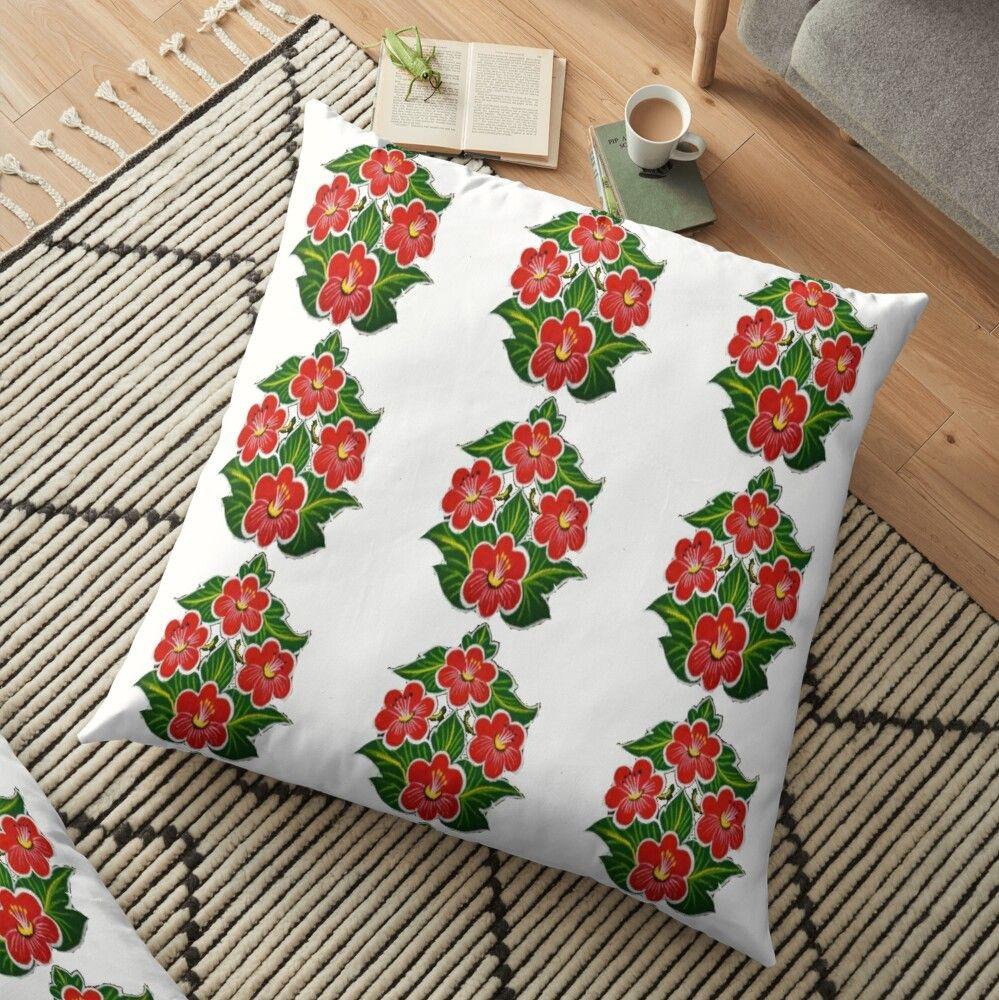 'Oleander flower tshirt ' Floor Pillow by Shahid1234 in