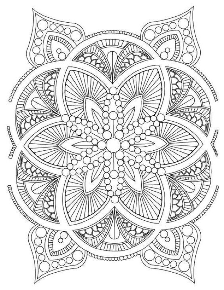 Stress Relief Mandala Coloring Pages Malvorlagen Mandala Malvorlagen Mandala Zum Ausdrucken